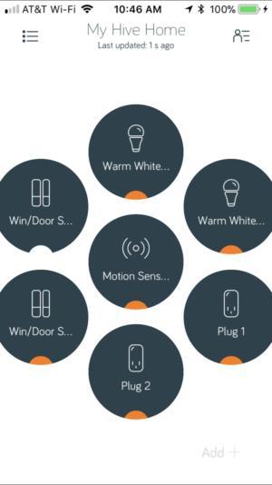 Hive smart home app