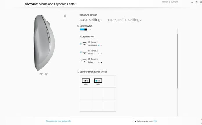 microsoft mouse and keyboard center smart switch