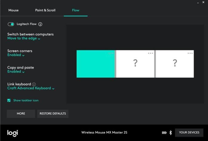 logitech flow screenshot