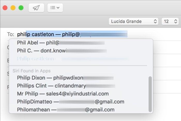 mac911 siri suggestions mail