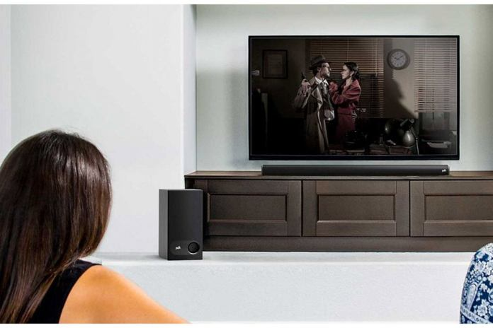 The Signa S1's slimline formfactor won't block your TV's IR port when table-mounted.