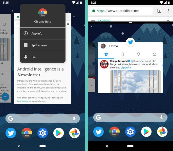 Android P Split Screen
