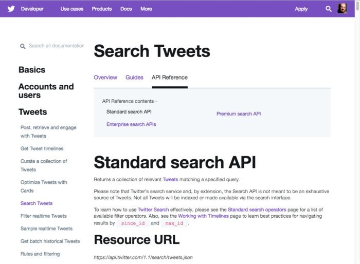 twitter search api
