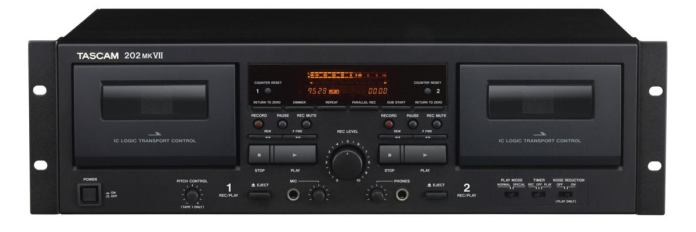 202mkvii p front 100760181 large - TASCAM 202MKVII dual cassette deck review: A high-quality, but pricey, tool for digitizing your tape collection