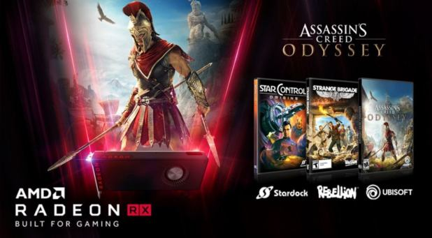 AMD Bundles Assassin's Creed: Odyssey And Two More Free Games With Radeon Graphics Cards