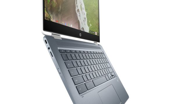 hp chromebook x360 14 open side