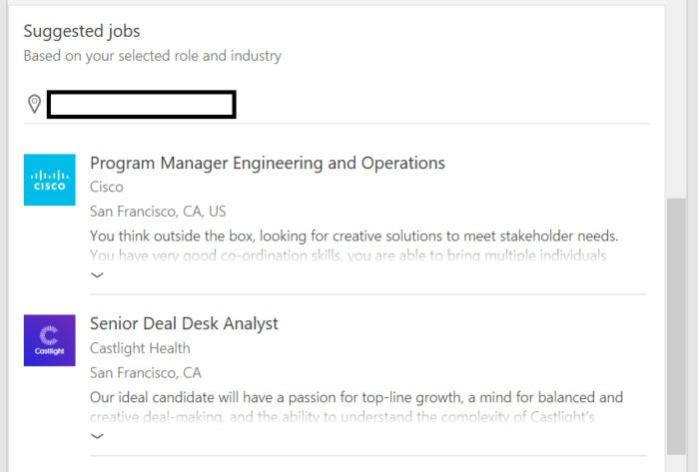 word resume assistant suggested jobs