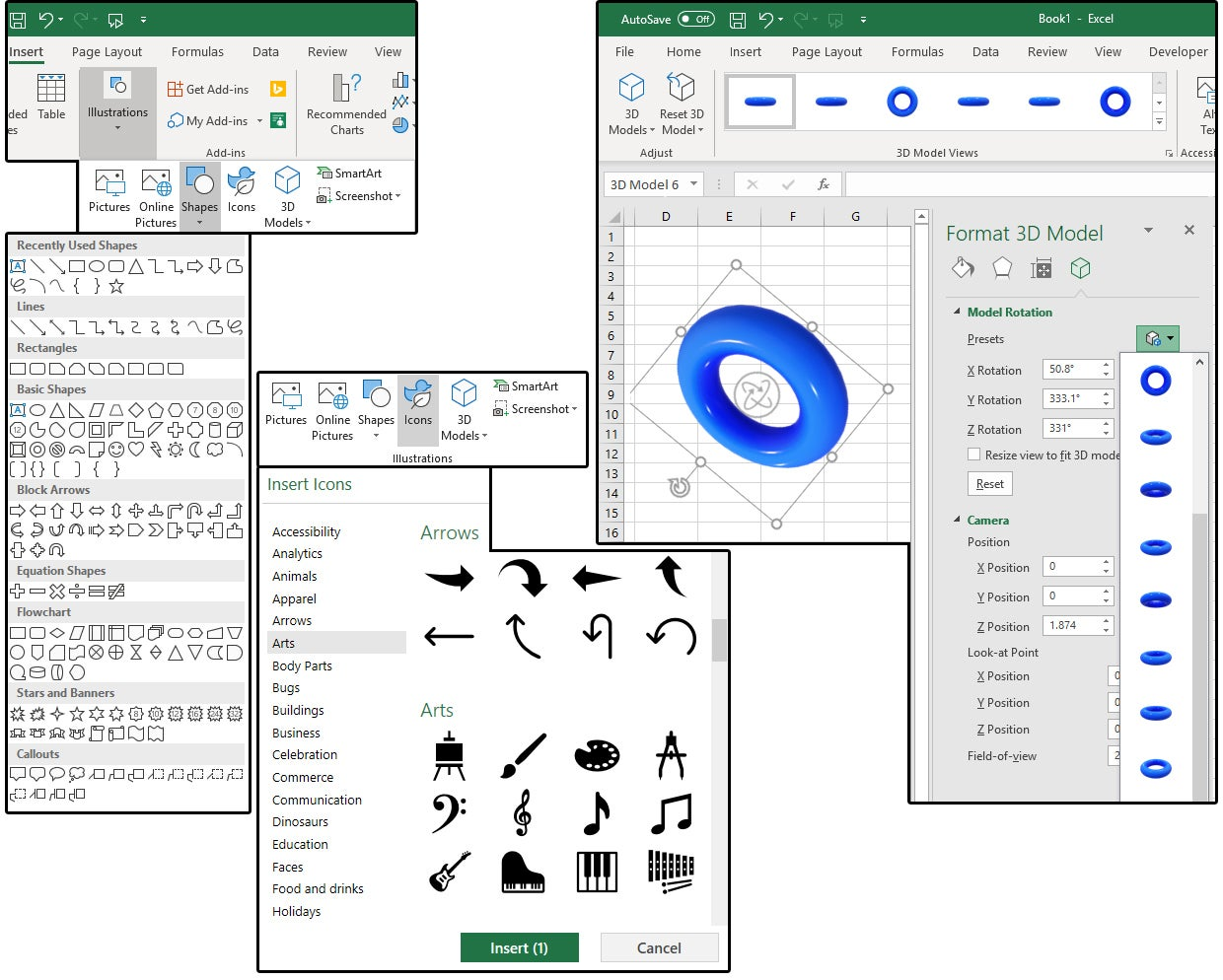 How To Create Edit And Format Images In Excel