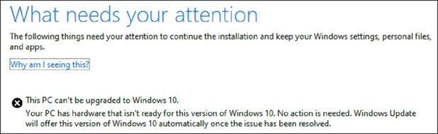 cant upgrade to windows 10 large