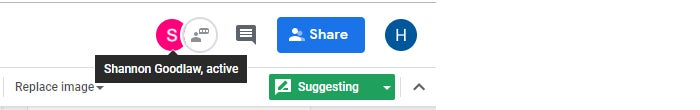 google drive collaboration real time person icon