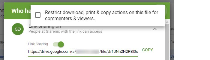 google drive collaboration team drives share restrict