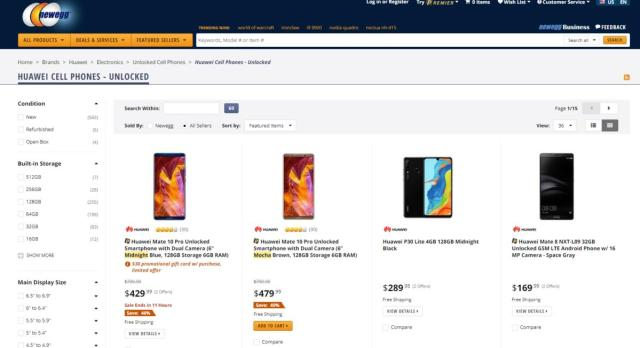 newegg huwei phones