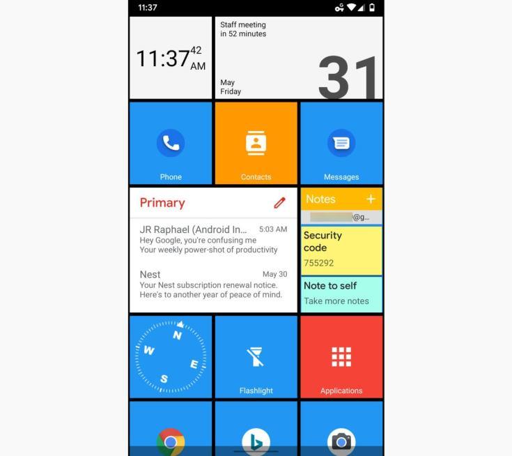 02 squarehome windows phone launcher 2019