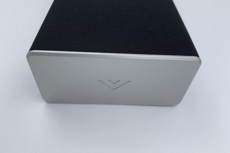 All Vizio's sound bars feature stylish silver end caps with the Vizio logo.