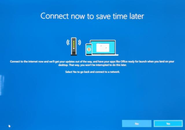 Microsoft Windows 10 connect to save time later 3