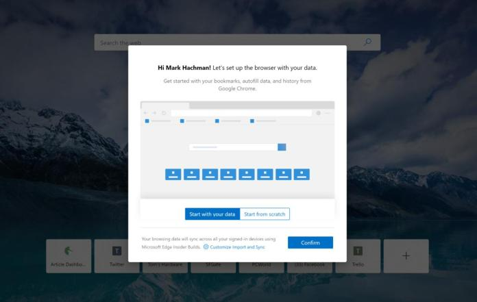 Microsoft Edge setup