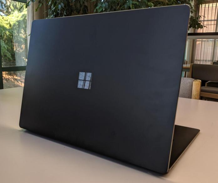 Microsoft Surface Laptop 3 back