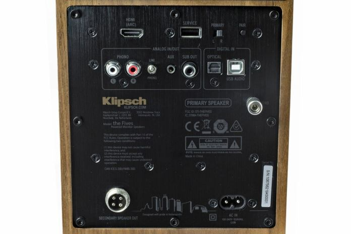 klipsch the fives connections