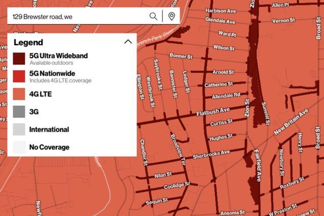 карта покрытия verizon 5g uwb