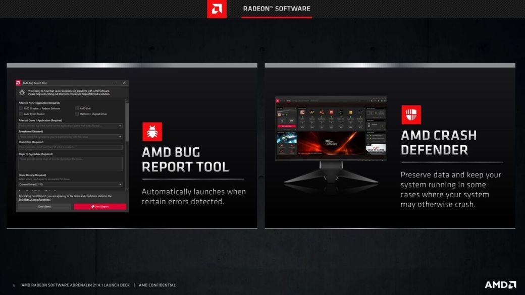 radeon software bug tools