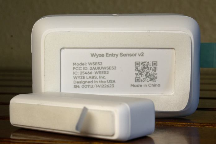 wyze entry sensor adhesive back