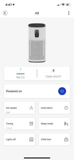 proscenic a9 air purifier app 3