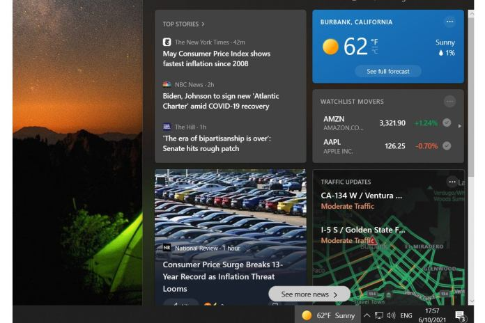 How to turn off News And Interests in Windows 10's taskbar