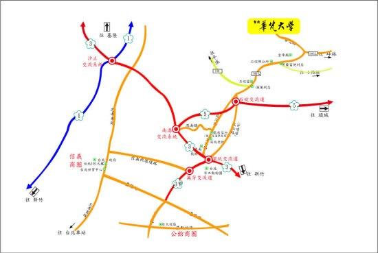 華梵大學地圖