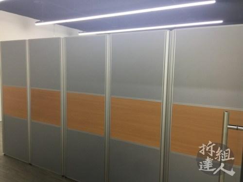 高度為192的辦公屏風造型牆面