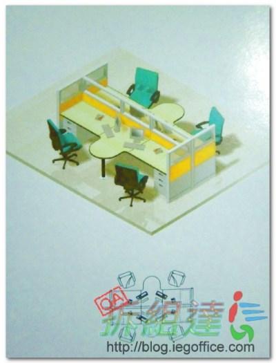辦公家具-辦公屏風座位樣式