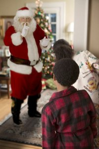 santa in your living room   living room decorating ideas