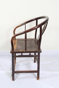 iGavel Auctions: Chinese Horseshoe Back Arm Chair, 18th