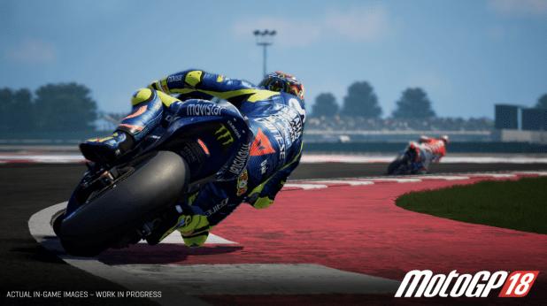 גרפיקת המשחק האיכותית, תמונה מאתר החברה אבל ככה המשחק MotoGP18 נראה במציאות