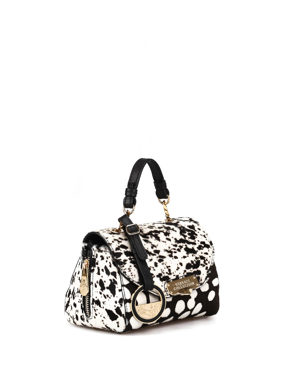 Animal Print Leather Shoulder Bag By Versace Collection