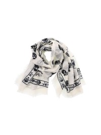 Alexander Mcqueen - Punk Skull white scarf - scarves ...