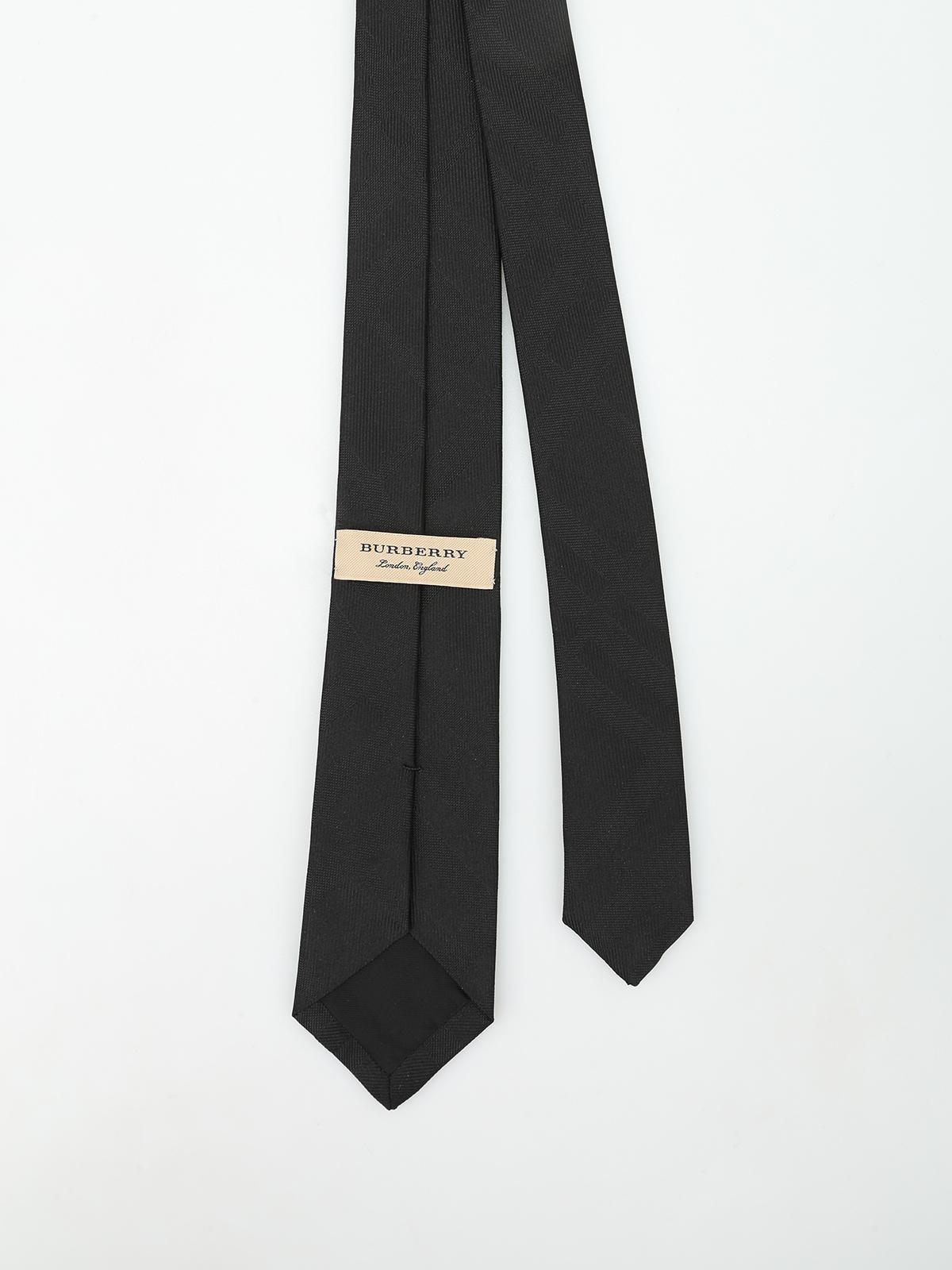 Stanfield Check silk tie by Burberry