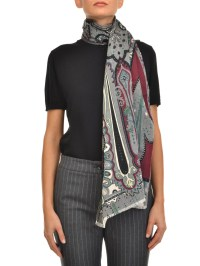 Wool and silk Paisley pattern scarf by Etro - scarves | iKRIX