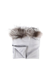 Fox fur trimmed silk wool shawl by Fendi - Stoles & Shawls ...