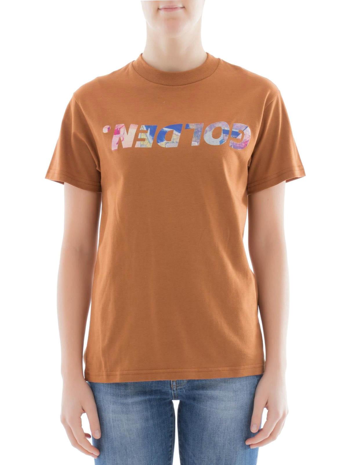 Golden Goose Logo Print Cotton T Shirt T Shirts