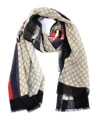 Web and snake print GG wool scarf by Gucci - scarves | iKRIX