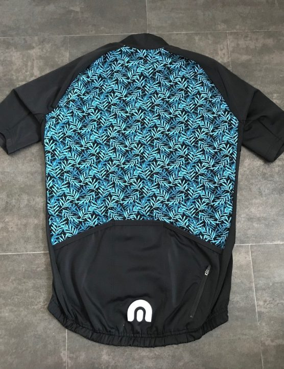 Megmeister Premium Woven Leaves Jersey back