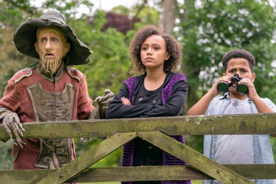 Mackenzie Crook, India Brown and Thierry Wickens at Worzel Gummidge