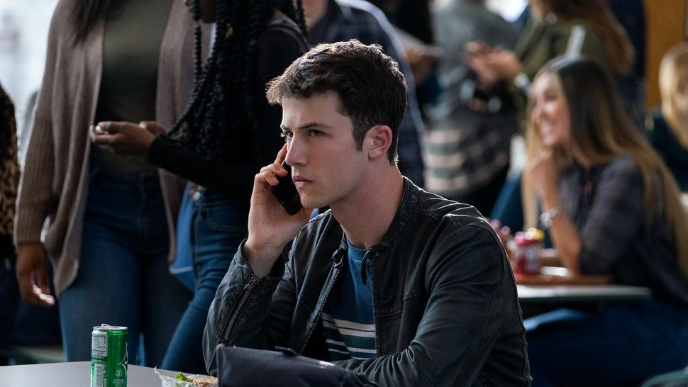 Clay in 13 Reasons Why on the phone