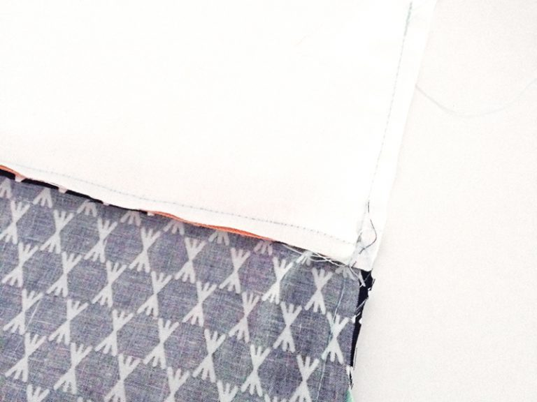 Bow Clutch Bag Tutorial step 4