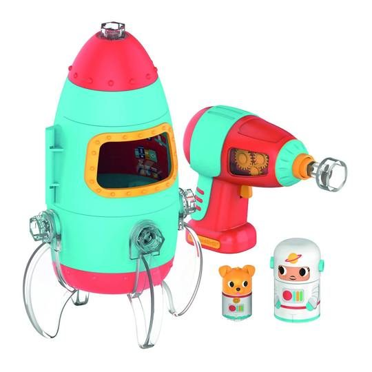 Toy rocket and drill