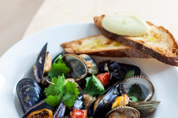 Clams, Mussels and Chorizo Recipe with Fino and Aïoli Recipe