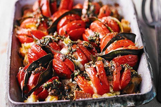 Roasted Tomatoes Recipe with Mozzarella