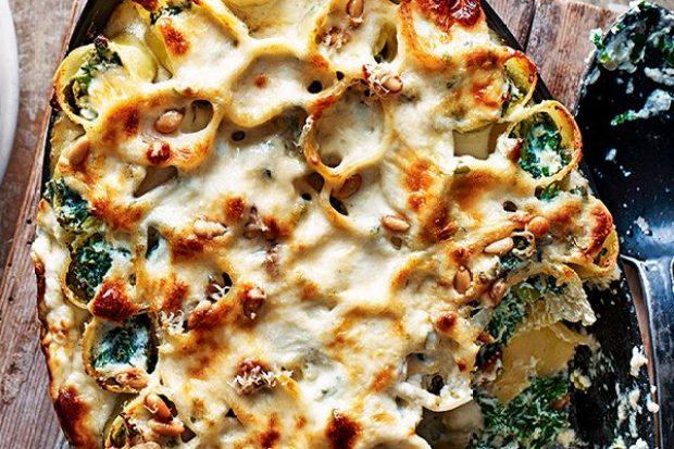 Ricotta and kale cannelloni recipe
