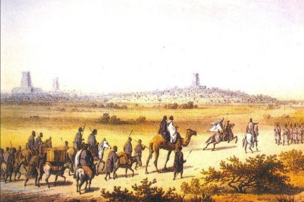 Berber trade caravan on the outskirts of Timbuktu © Wikimedia Commons