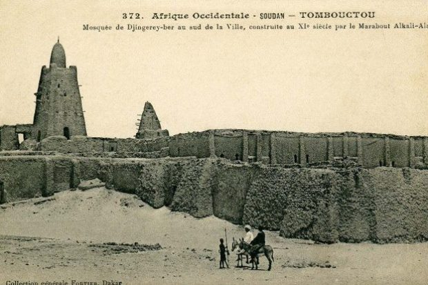 Photograph of Sankore Madrasah taken by French ethnographer François-Edmond Fortier, 1905 © Wikimedia